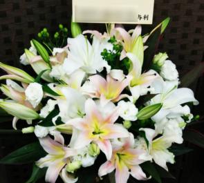 北千住 開店祝い白系の花