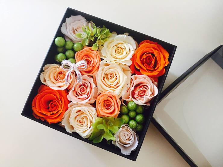 厚木市 誕生日プレゼントの花 プリザーブドフラワー