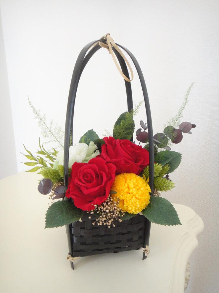 板橋区 誕生日プレゼントの花 プリザーブドフラワー