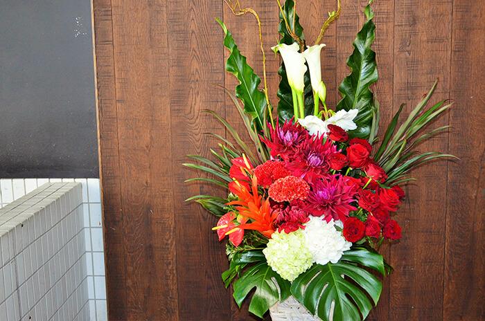 120周年祝い花