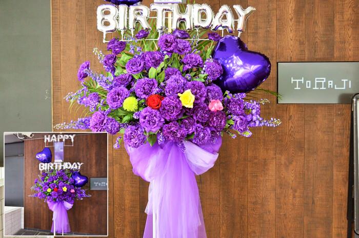 誕生日イベントスタンド花