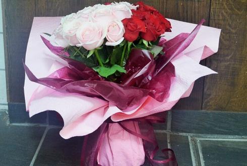 プロポーズピンク×赤バラ花束30本