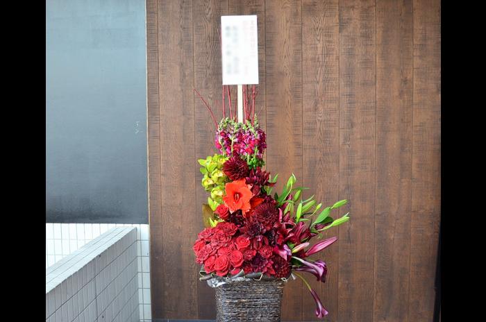 受賞祝い花