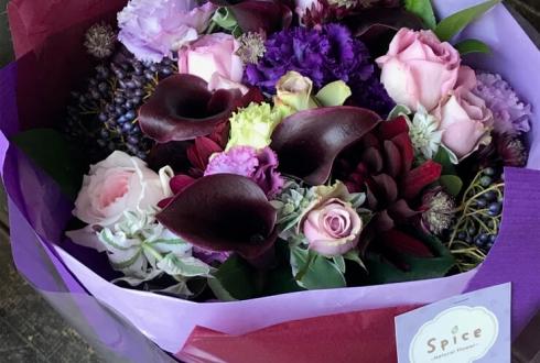 古希70歳誕生日プレゼント紫花束