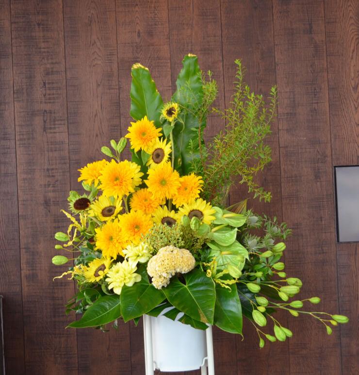 リニューアルオープン祝いスタンド花