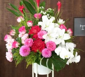個展出展祝いスタンド花