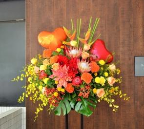 開店祝いバルーンスタンド花