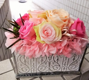開院祝い花プリザーブドフラワー