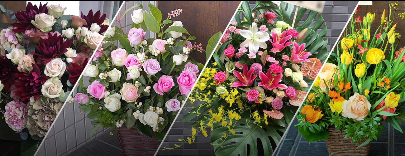 三越劇場に贈る花