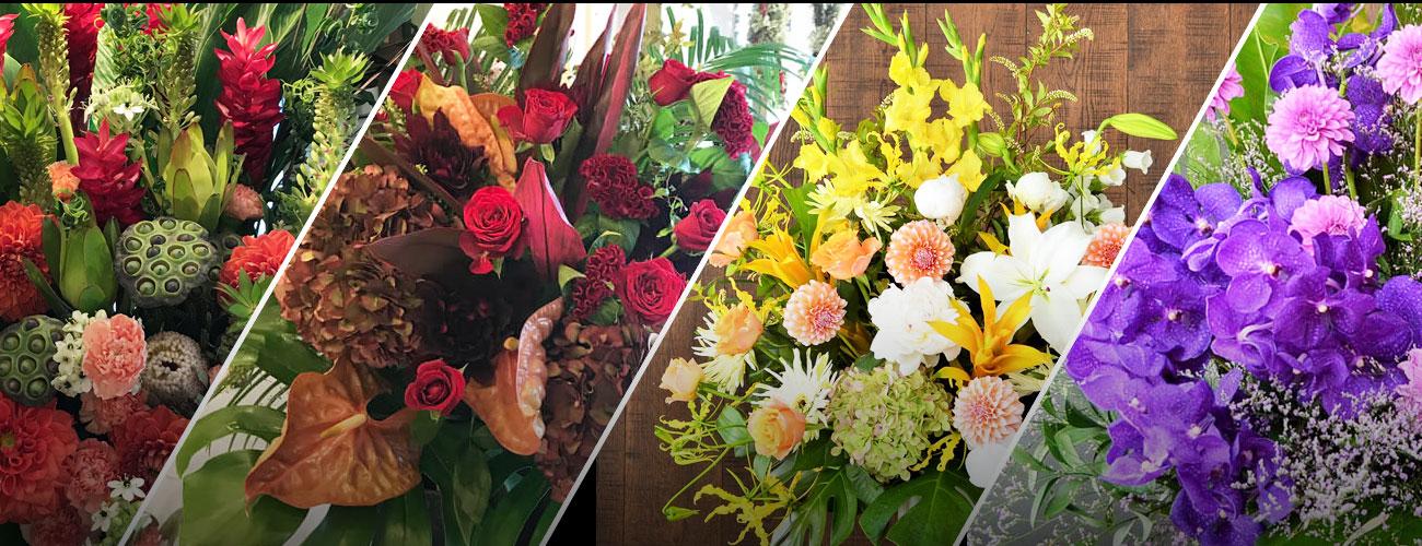 天王洲銀河劇場に贈る花