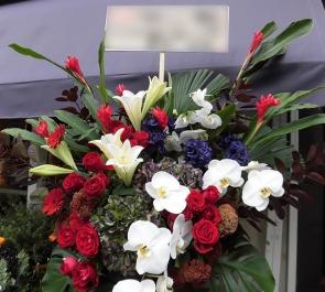 フラメンコ公演祝いスタンド花