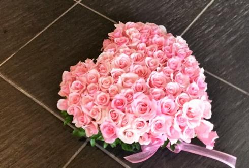 誕生日プレゼント花ピンクバラハート