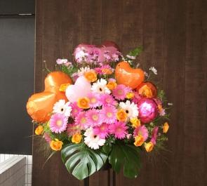 イベント公演祝いバルーンスタンド花