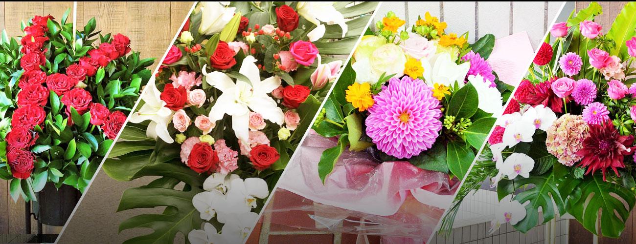築地ブディストホールに贈る花