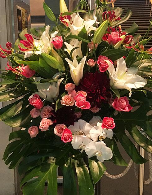 上野に贈るスタンド花