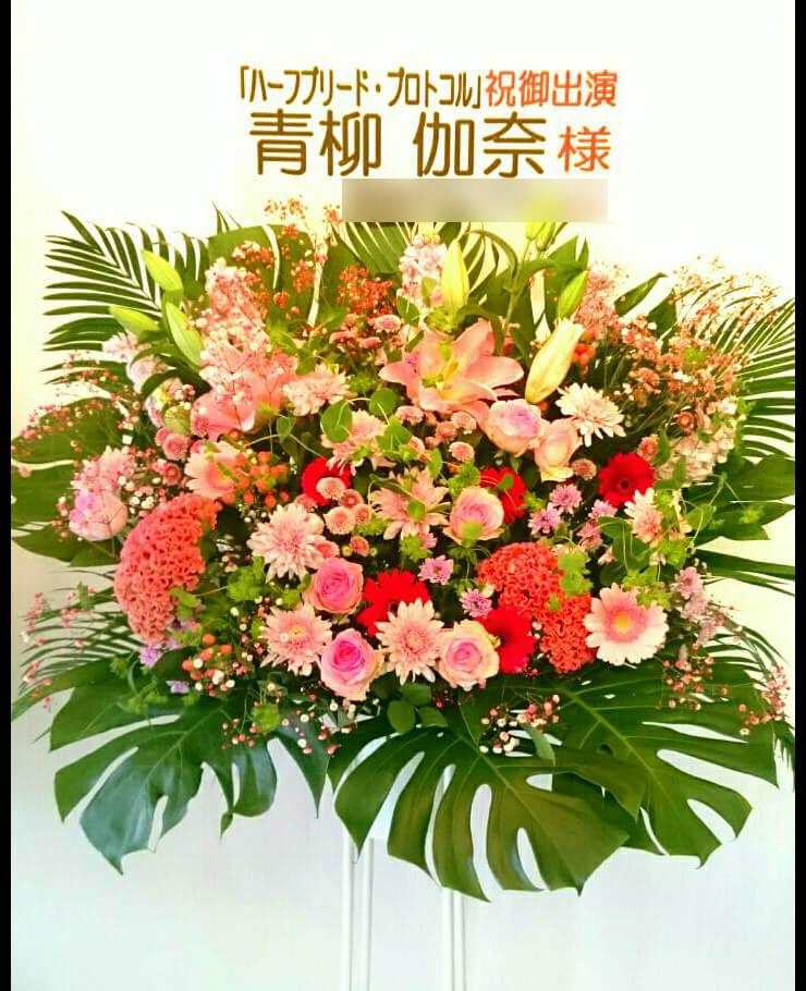 青柳伽奈様舞台出演祝いスタンド花
