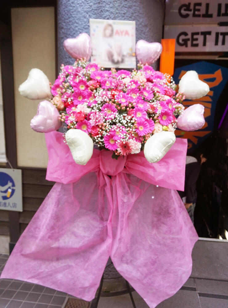 ライブ生誕イベントバルーンスタンド花