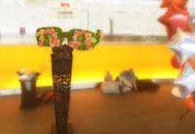 イベント祝い眼鏡メタルスタンド花