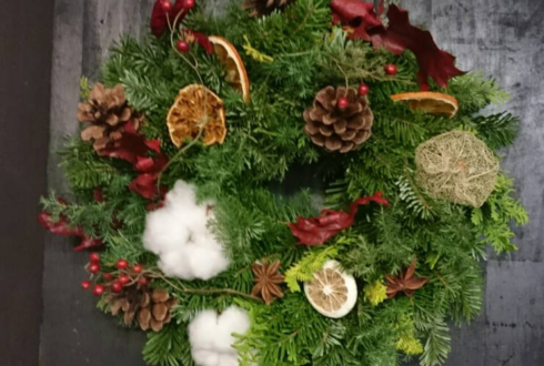 クリスマス用ドア飾りリース