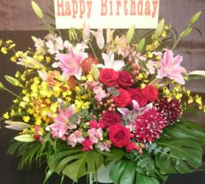 練馬区豊玉北 クラブ キャスト様の誕生日祝いスタンド花
