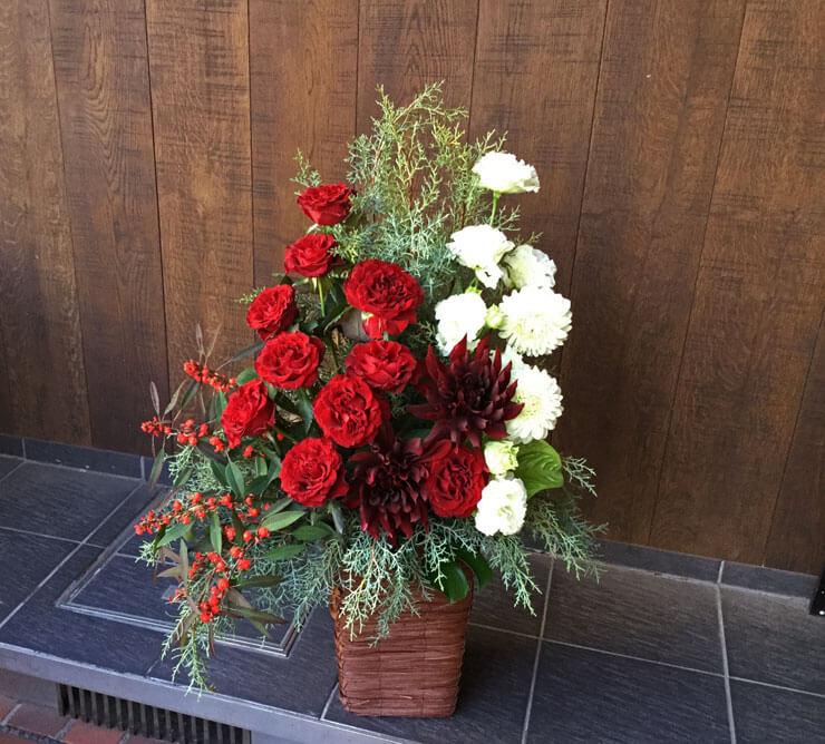 日本橋箱崎町自社ビル完成祝い花