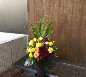 美容室開店祝い籠スタンド花