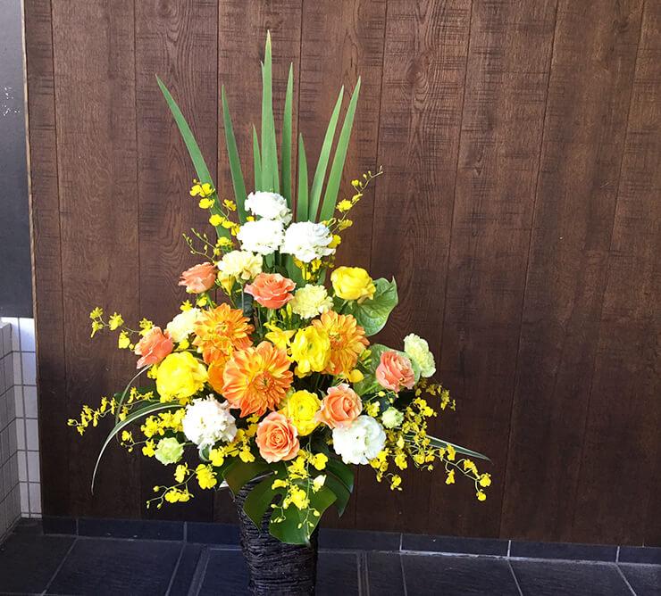 就任祝い移転祝い籠スタンド花