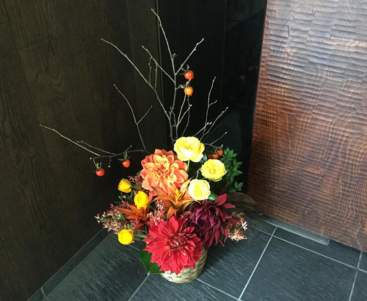 就任祝い花