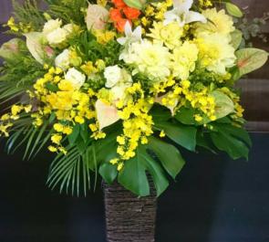 練馬区 東映アニメーション様の新社屋お祝い籠スタンド花