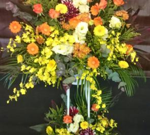 新社屋祝い 練馬の東映アニメーション様への二段スタンド花