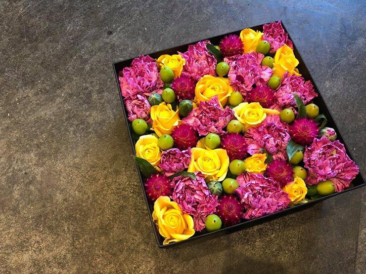 福島県会津若松市 誕生日祝い花 boxflower
