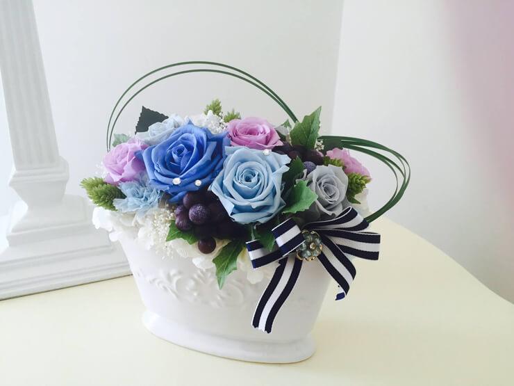 誕生日プレゼントの花 プリザーブドフラワー