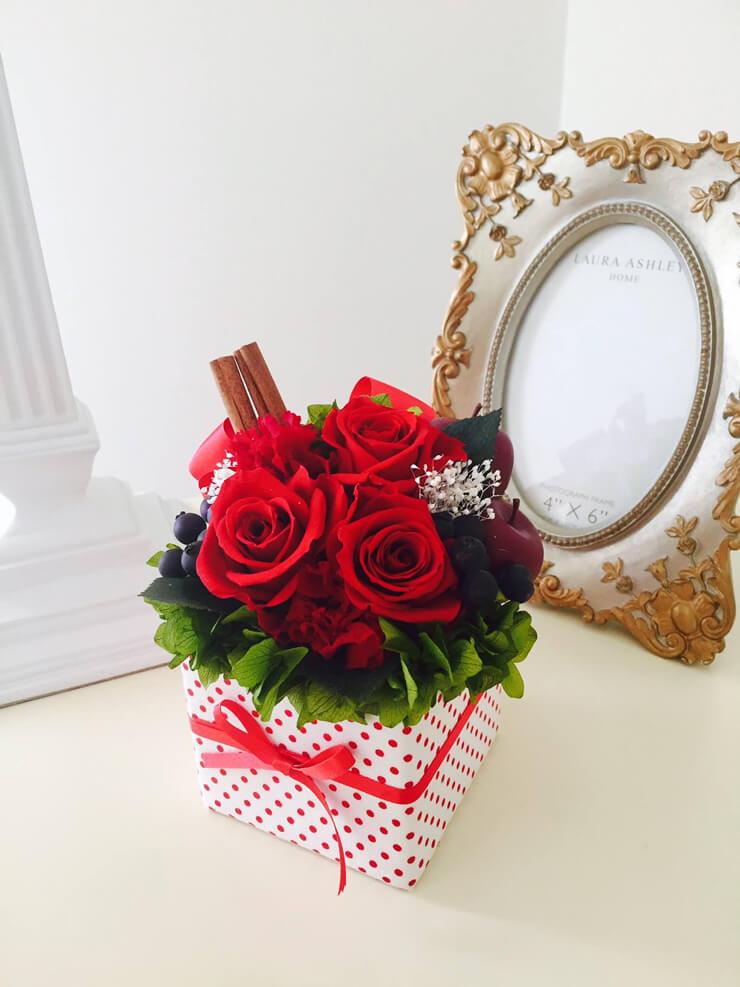 府中市 誕生日プレゼントの花 プリザーブドフラワー