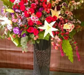 練馬文化センターこぶしホールイベントアイアンスタンド花