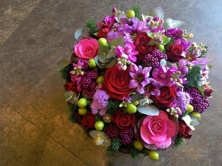 八王子2周年祝い花