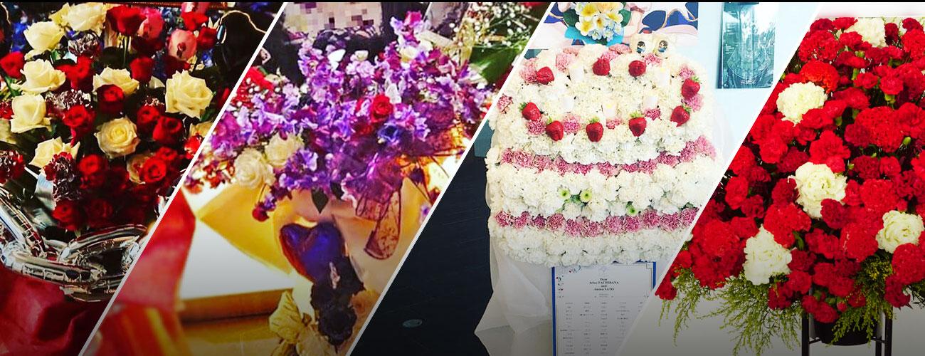 舞浜アンフィシアターに贈る花