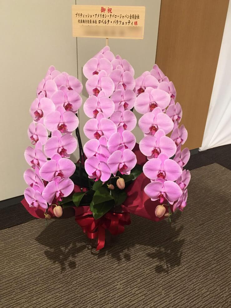 赤坂ミッドタウンタワー移転祝い胡蝶蘭ピンク