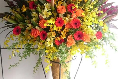 高円寺 美容室様の開店祝いコーンスタンド花