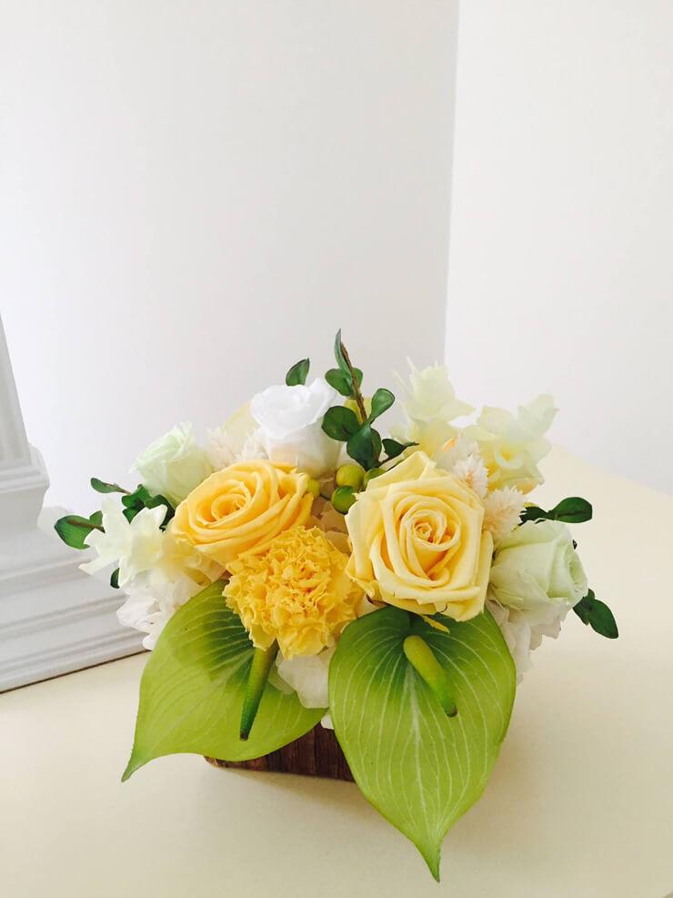 中央区 誕生日プレゼント花 プリザーブドフラワー
