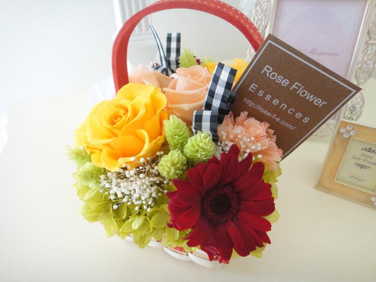 青梅市 誕生日プレゼントの花 プリザーブドフラワー