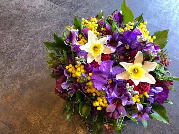八王子市 誕生日プレゼント 紫の花