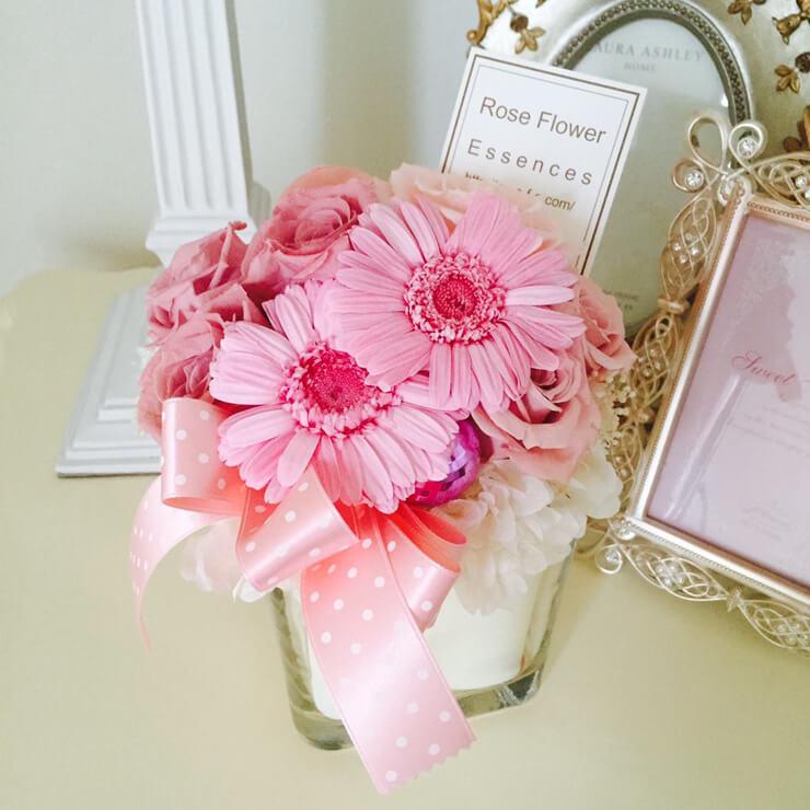 世田谷区 誕生日プレゼントの花 プリザーブドフラワー