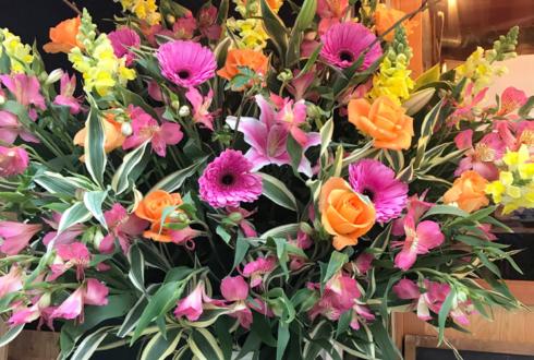 町屋 マチヤバル三角屋様の1周年祝いスタンド花