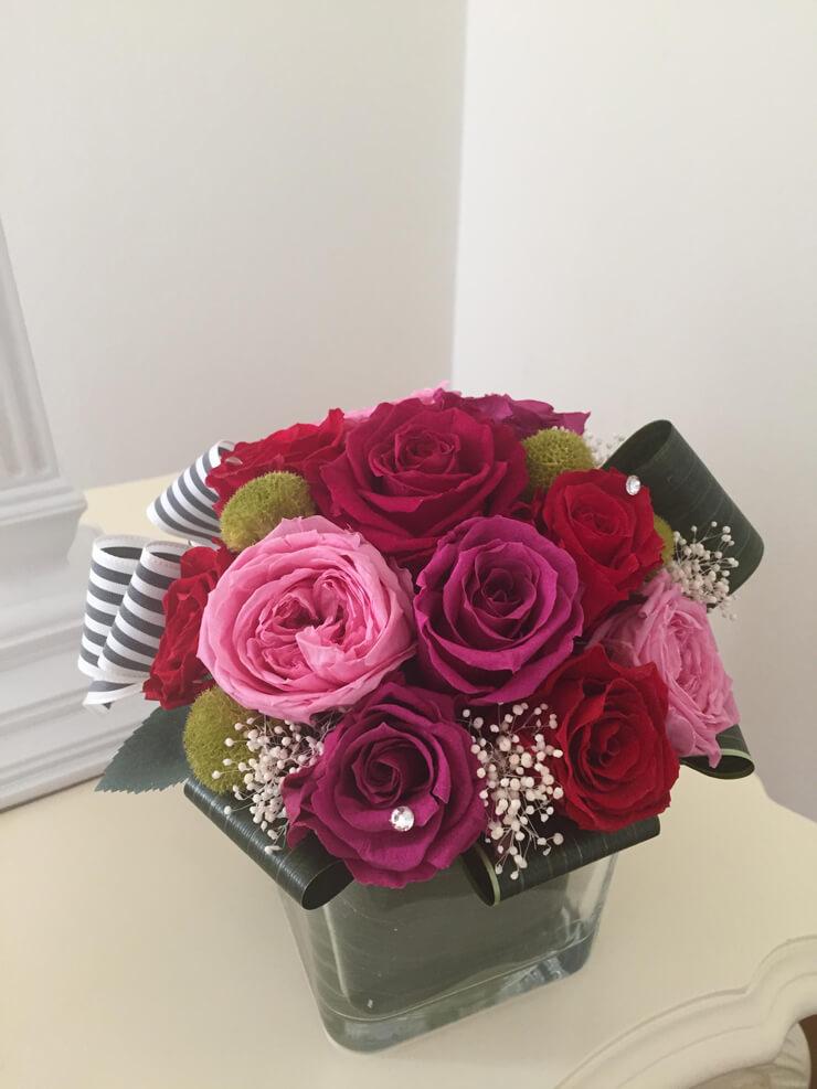 新宿 誕生日プレゼントの花 プリザーブドフラワー