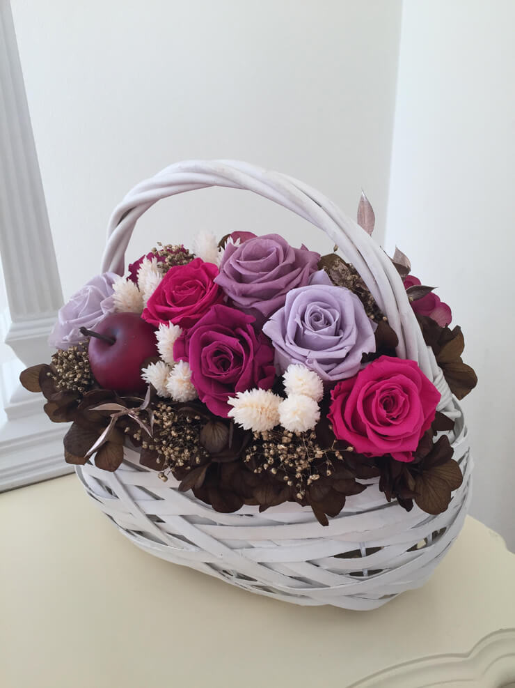 東久留米市 誕生日プレゼントの花 プリザーブドフラワー