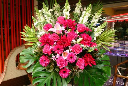 観世能楽堂 成田美名子先生の画業40周年記念能公演祝いスタンド花
