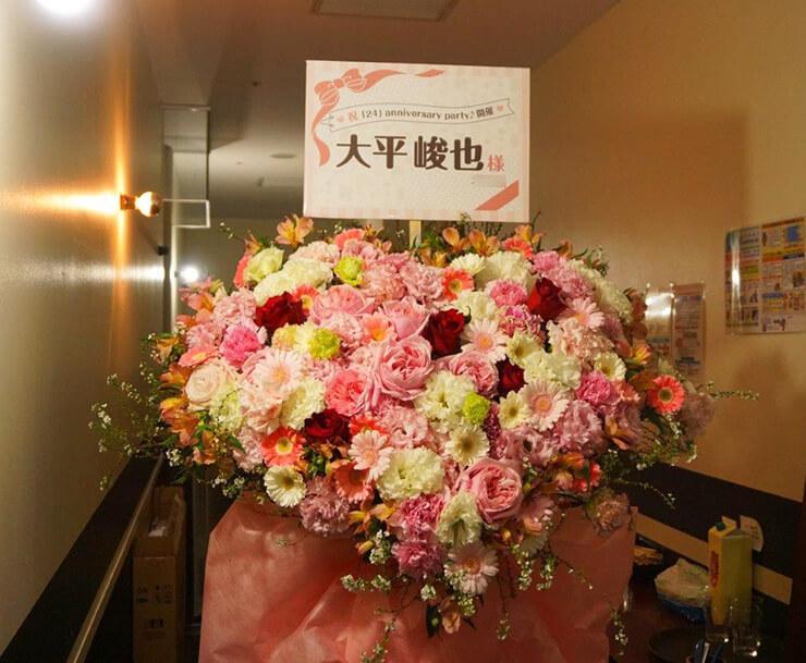 渋谷eplus LIVING ROOM CAFE&DINING 大平峻也様のバースデーイベントスタンド花