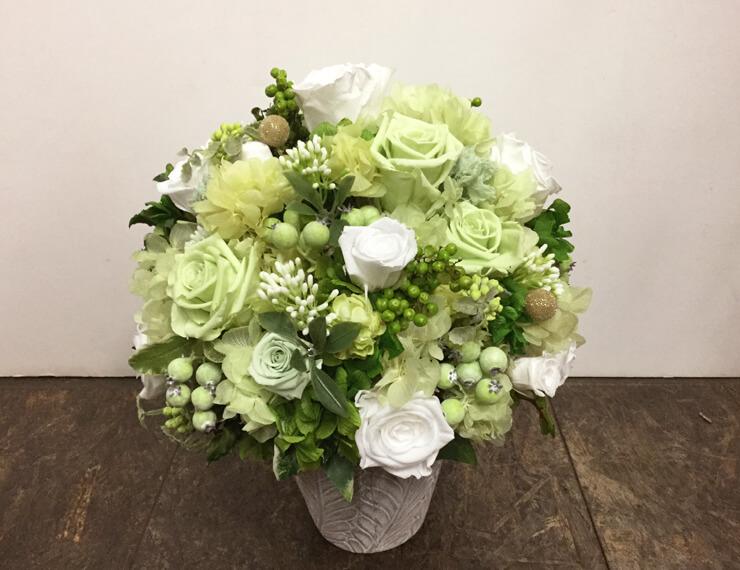麻布十番開店祝い花プリザーブドフラワー