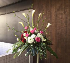 アメリカ橋ギャラリー 清水麻美子様展示会祝いスタンド花