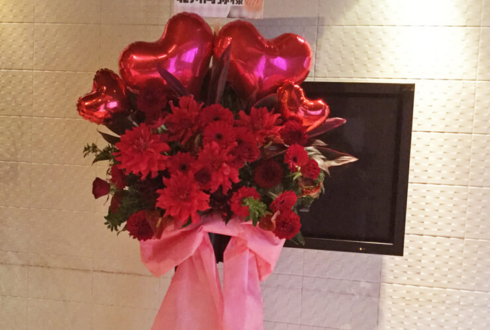 カラオケの鉄人銀座店 北川尚弥樣のバレンタインイベントバルーンスタンド花